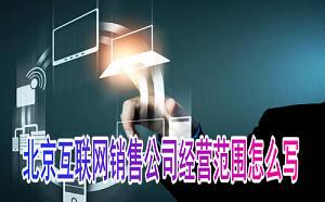 北京互联网销售公司经营范围如何填写?